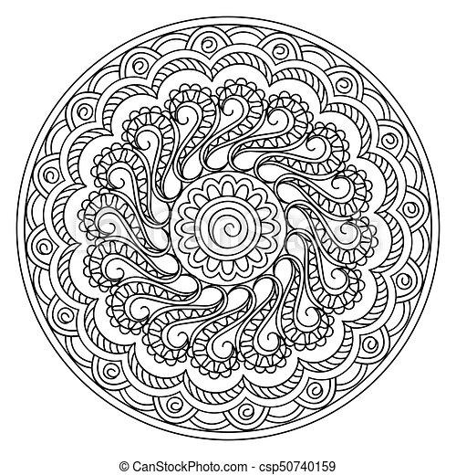 mandala in yoga style - csp50740159