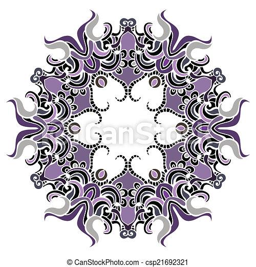 Mandala. Indian decorative pattern. - csp21692321