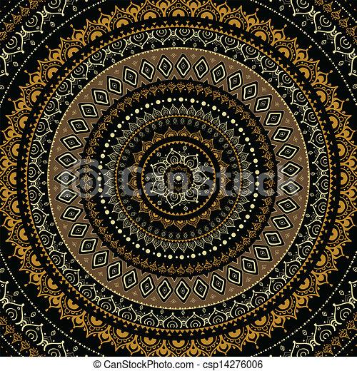 Mandala. Indian decorative pattern. - csp14276006