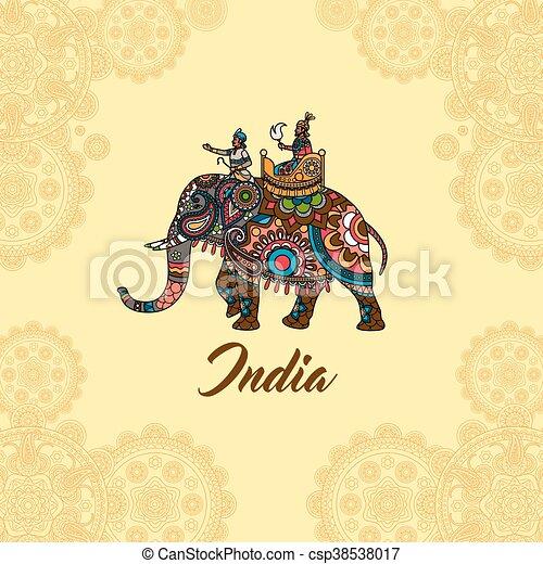 Mandala maharaja ornement l phant indien vecteur clipart vectoris recherchez - Elephant indien dessin ...