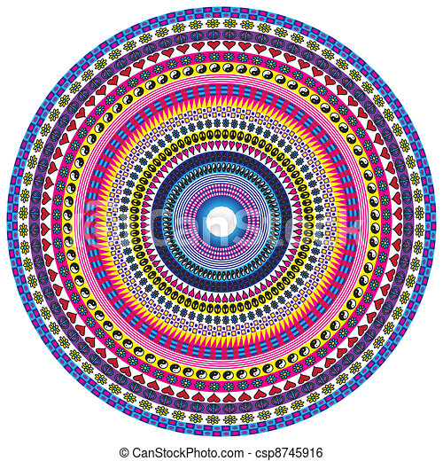 Mandala paix amour mod le fond circulaire - Mandala amour ...