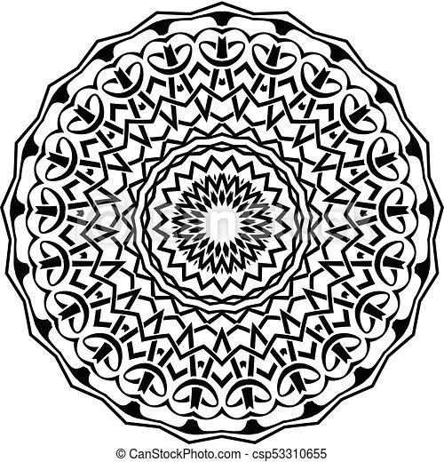 mandala pattern - csp53310655