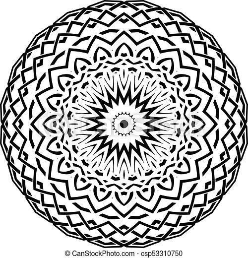 mandala pattern - csp53310750