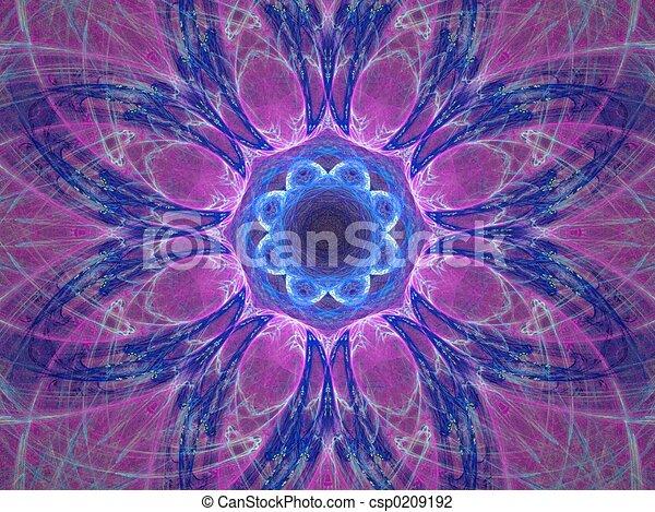 mandala, purplish - csp0209192