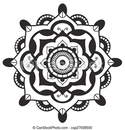 Mandala.pagan symbol. schematic representation of the sacred vector ...