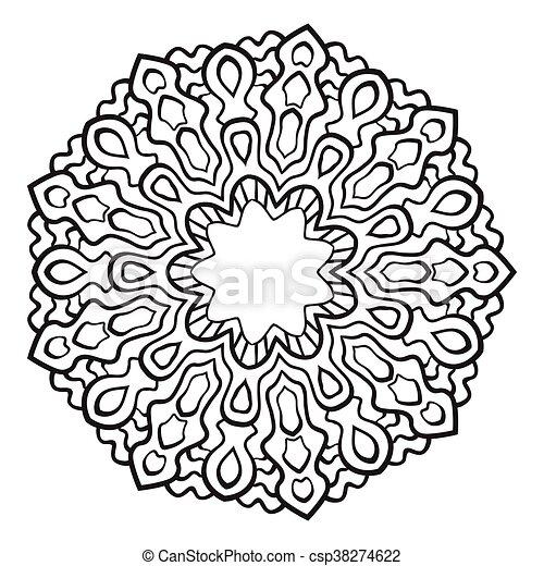 Mandala., vektor, abstrakt, decoration. Dekorativ, vektor,... Vektor ...