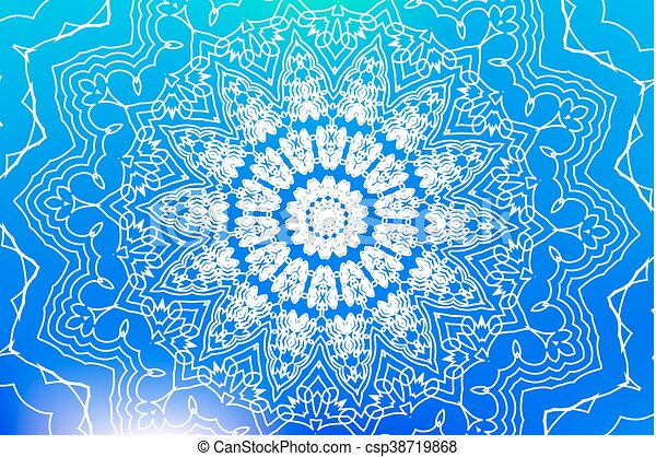 Mandala, vektor, bakgrund. Ornamental, grafisk, poster ...