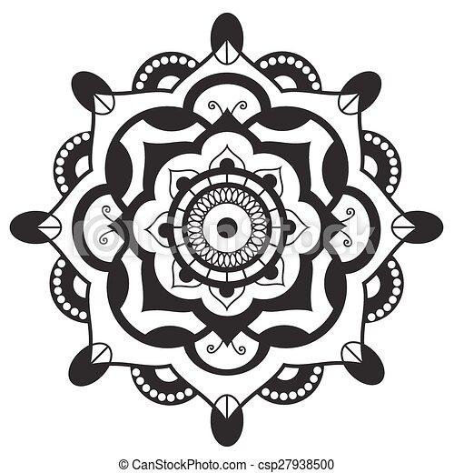 Darstellung, mandala.pagan, symbol., heilig, schematisch.