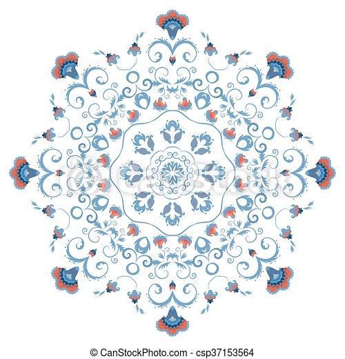 Mandala, verzierung, abstrakt, blumen, styled. Östlich,... Clipart ...