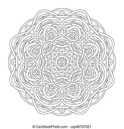 Mandala. vintage hand drawn decorative vector illustration ...