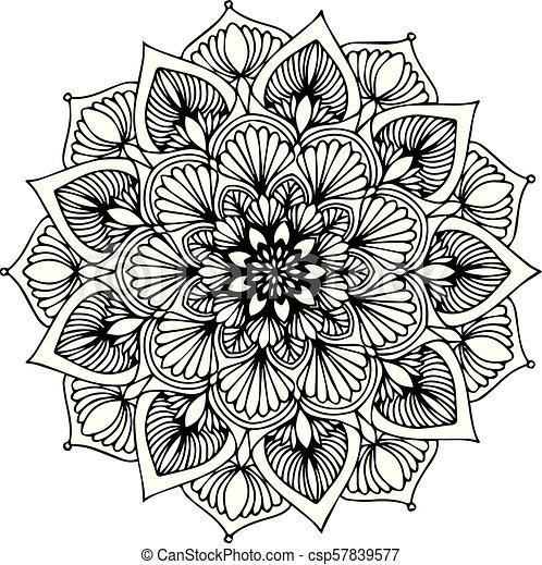 Mandalas For Coloring Book Decorative Round Ornaments Unusual