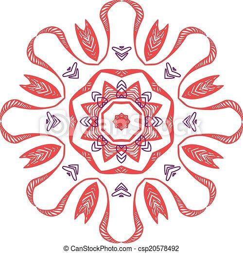 Mandalas Henna Vector