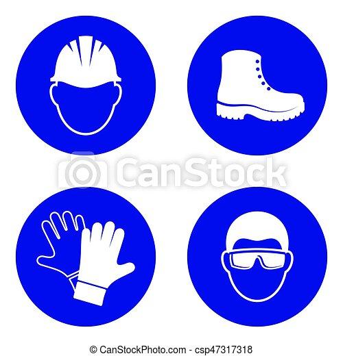 Mandatory health safety signs - csp47317318