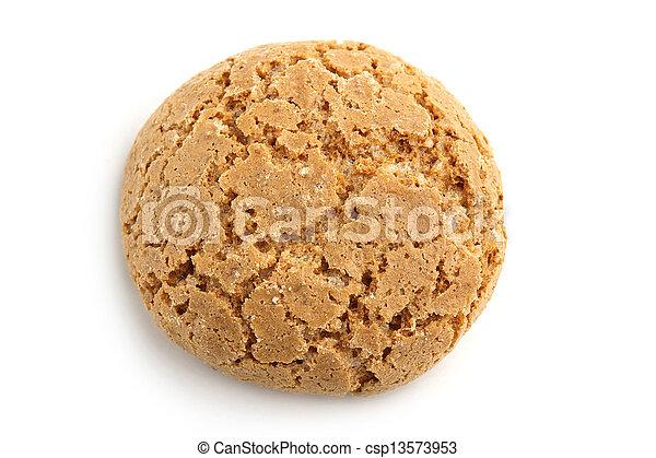 mandorla, tradizionale, biscotto, fondo, bianco, italiano - csp13573953
