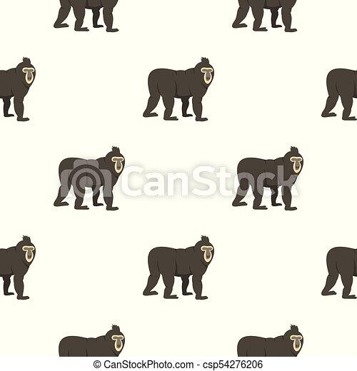 Mandrill pattern seamless - csp54276206