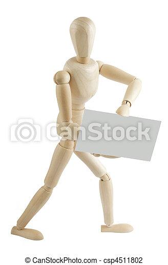 Manequin walks with sign - csp4511802