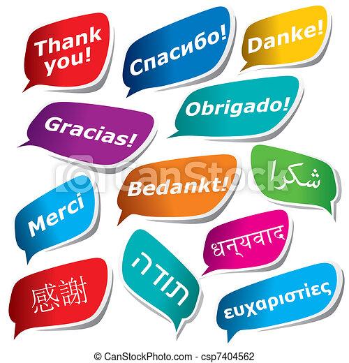 12 maneras de decir gracias - csp7404562