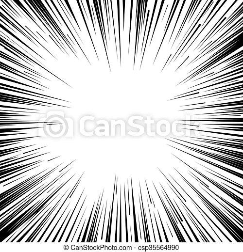 Manga comic book flash explosion radial lines background. - csp35564990