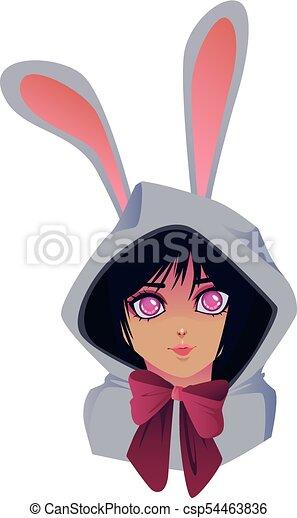 Manga girl - csp54463836