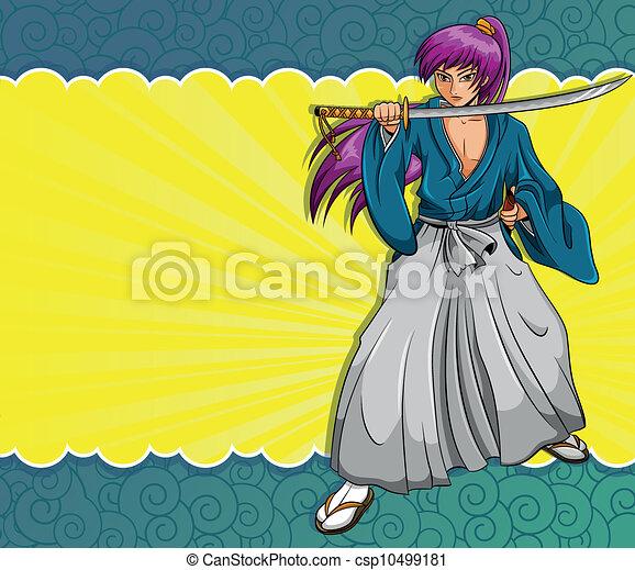 manga samurai - csp10499181