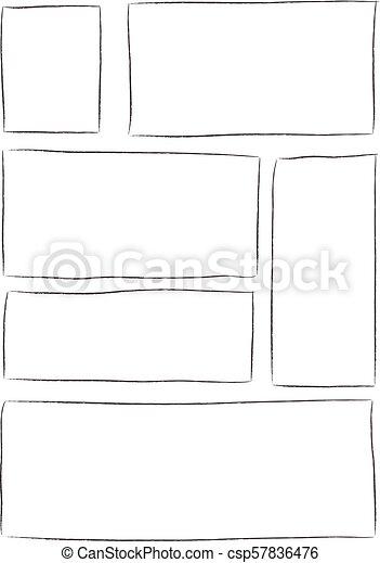 Manga Storyboard Template Manga Storyboard Layout Template For
