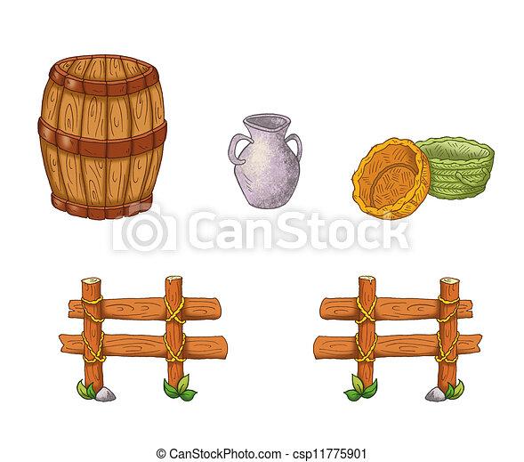 mangeoire, éléments - csp11775901