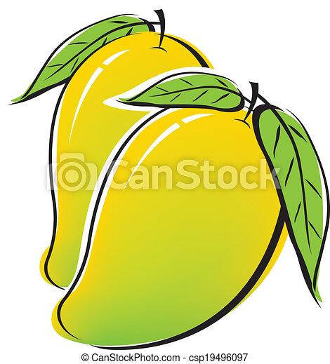 Mango design on white background - csp19496097