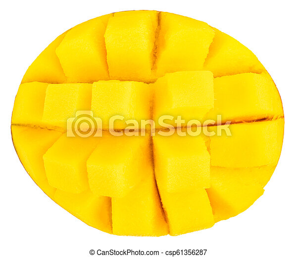 mango isolated on white background, top view - csp61356287