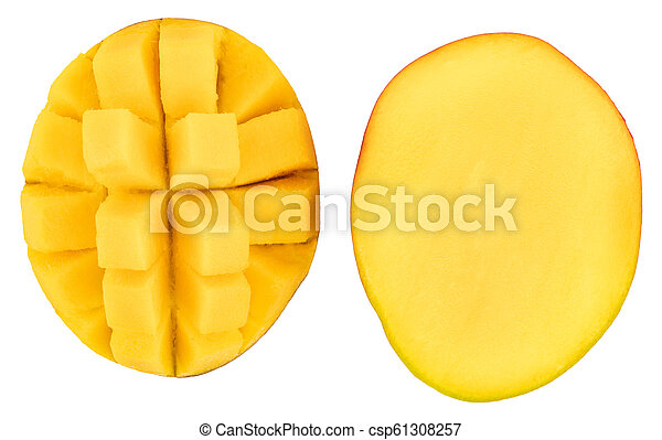 mango isolated on white background, top view - csp61308257