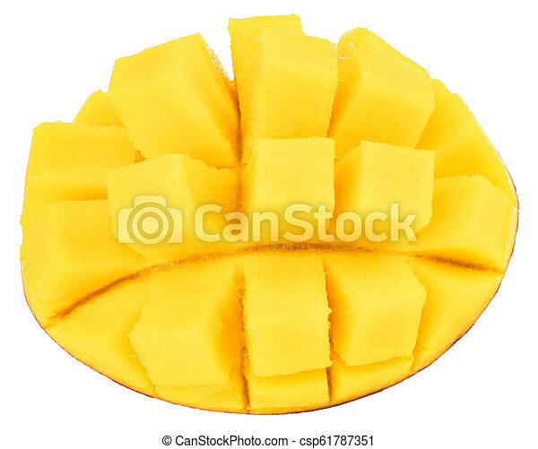 mango isolated on white background, top view - csp61787351