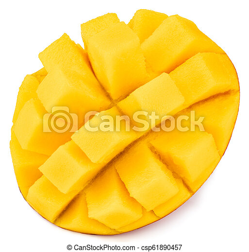 mango isolated on white background, top view - csp61890457