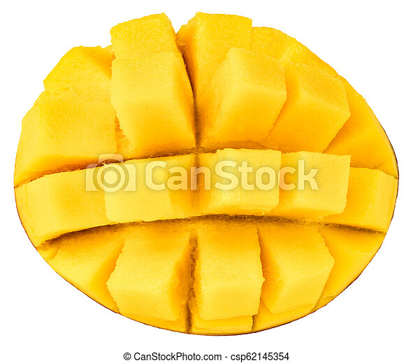 mango isolated on white background, top view - csp62145354