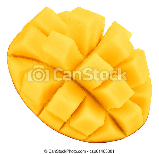 mango isolated on white background, top view - csp61465301