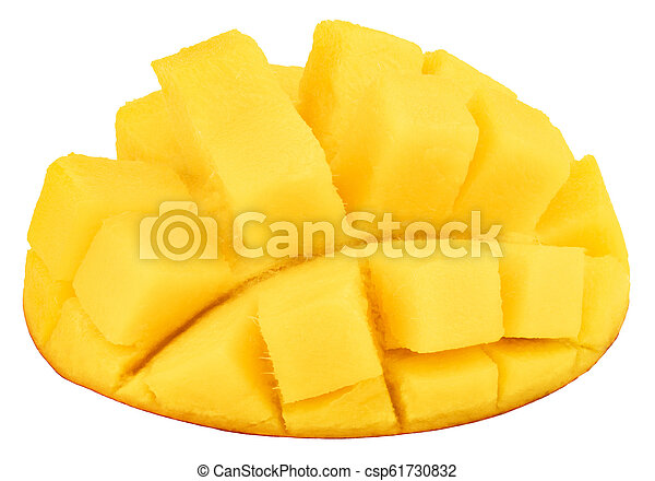 mango isolated on white background, top view - csp61730832