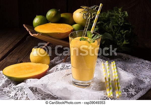 mango smoothie - csp39049353