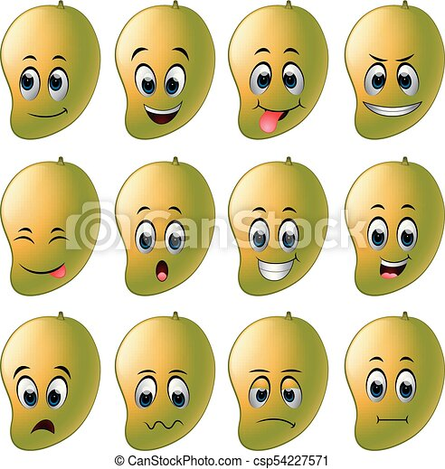 mango with different emoticons - csp54227571
