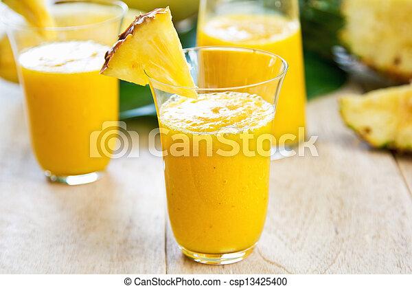 Mango with pineapple smoothie - csp13425400