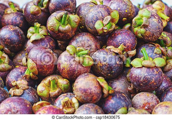 Mangosteen in the market - csp18430675