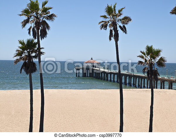 Manhattan Beach Pier California Manhattan Beach Pier In Scenic