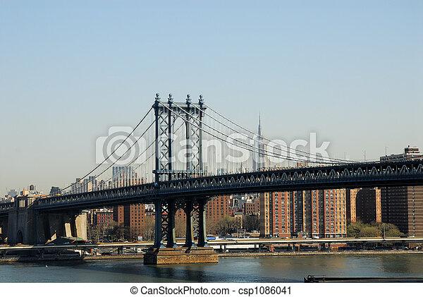 Manhattan Bridge, New York City - csp1086041