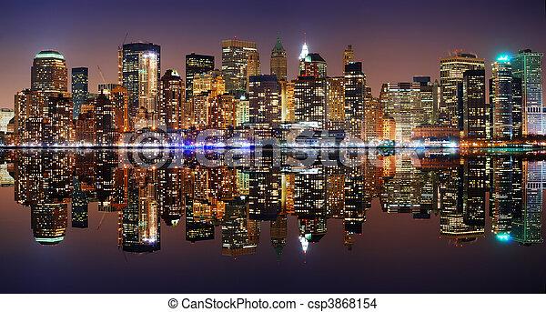 Manhattan panorama, New York City - csp3868154
