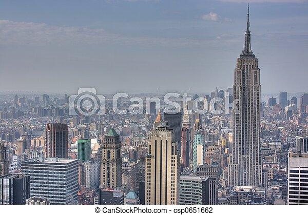 Manhattan Skyline From Atop 30 Rockefeller Center New York City Ny