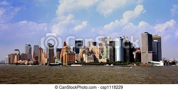 Manhattan Skyline - csp1118229
