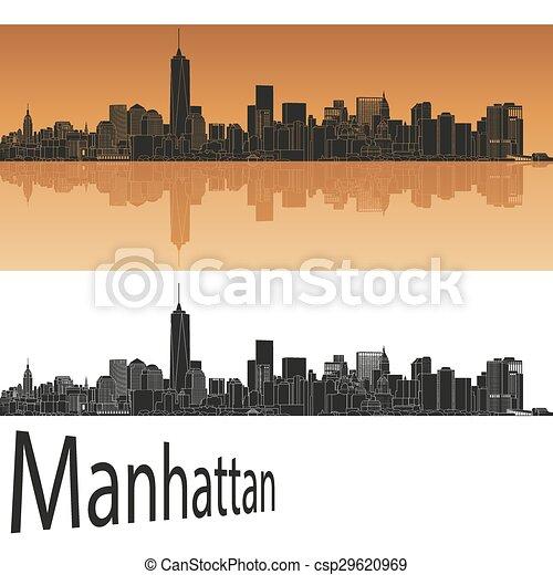 El horizonte de Manhattan - csp29620969