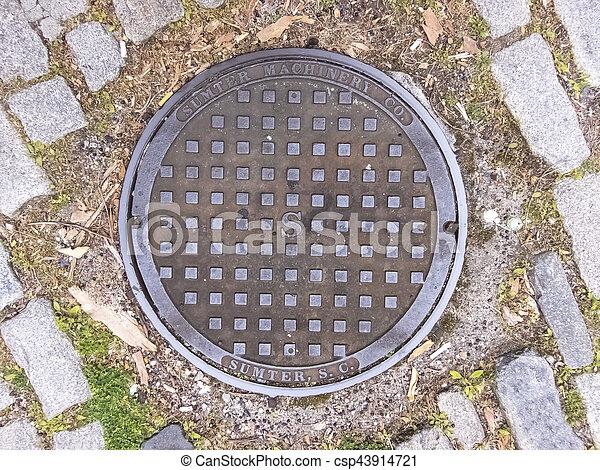 Manhole Cover in Charleston, South Carolina - csp43914721