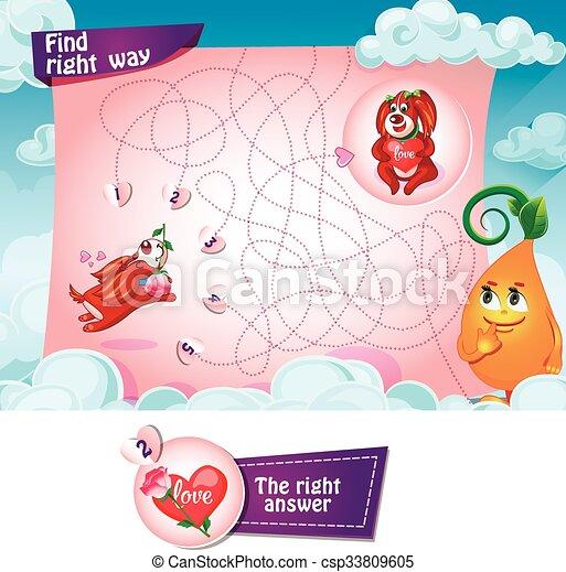 manière, trouver, droit - csp33809605