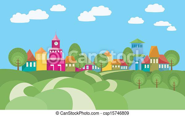 manière, village - csp15746809