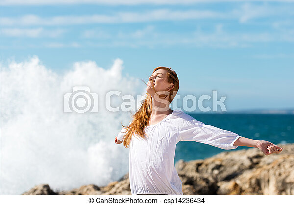 manière vivre saine, mer - csp14236434