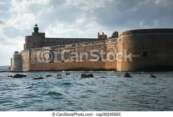 Maniace Castle in Sicily - csp30245693