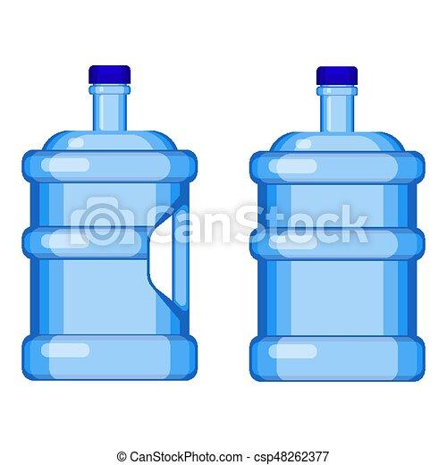 manico, due, acqua, senza, gallone, bottiglie - csp48262377